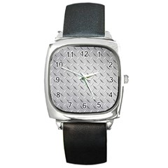Diamond Plate Square Metal Watches by trendistuff