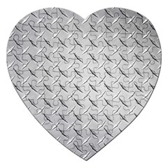 Diamond Plate Jigsaw Puzzle (heart) by trendistuff