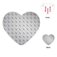 Diamond Plate Playing Cards (heart)  by trendistuff