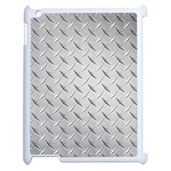 Diamond Plate Apple Ipad 2 Case (white) by trendistuff