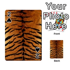 Tiger Fur Playing Cards 54 Designs  by trendistuff