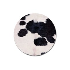 Spotted Cow Hide Magnet 3  (round) by trendistuff