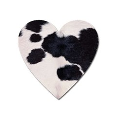 Spotted Cow Hide Heart Magnet by trendistuff