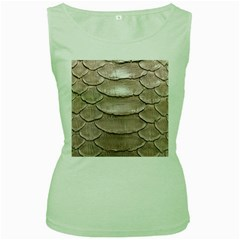 Scaly Leather Women s Green Tank Tops by trendistuff
