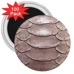 Scaly Leather 3  Magnets (100 Pack) by trendistuff