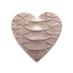 Scaly Leather Heart Magnet by trendistuff