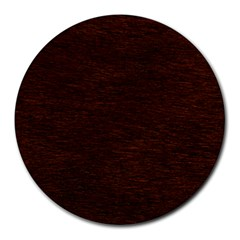 Reddish Brown Fur Round Mousepads by trendistuff