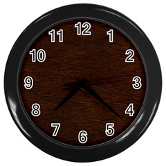 Reddish Brown Fur Wall Clocks (black) by trendistuff