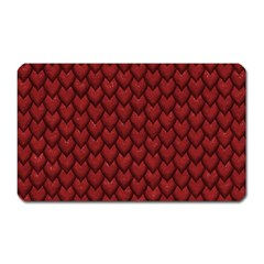 Red Reptile Skin Magnet (rectangular) by trendistuff