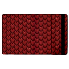 Red Reptile Skin Apple Ipad 2 Flip Case by trendistuff