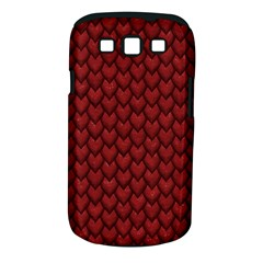 Red Reptile Skin Samsung Galaxy S Iii Classic Hardshell Case (pc+silicone) by trendistuff