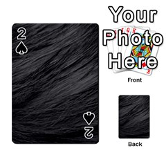 Long Haired Black Cat Fur Playing Cards 54 Designs