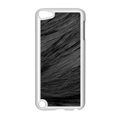 Long Haired Black Cat Fur Apple Ipod Touch 5 Case (white) by trendistuff