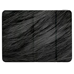Long Haired Black Cat Fur Samsung Galaxy Tab 7  P1000 Flip Case by trendistuff