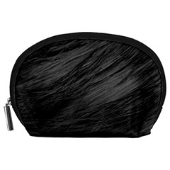 Long Haired Black Cat Fur Accessory Pouches (large)  by trendistuff