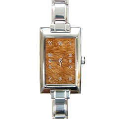 Light Brown Fur Rectangle Italian Charm Watches by trendistuff