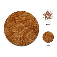 Light Brown Fur Playing Cards (round)  by trendistuff