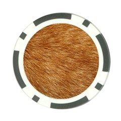 Light Brown Fur Poker Chip Card Guards by trendistuff