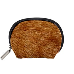Light Brown Fur Accessory Pouches (small)  by trendistuff