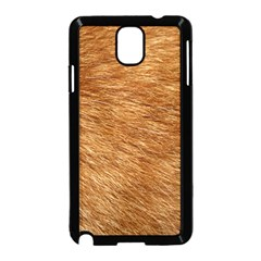 Light Brown Fur Samsung Galaxy Note 3 Neo Hardshell Case (black) by trendistuff