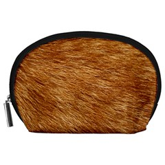 Light Brown Fur Accessory Pouches (large)