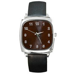 Horse Fur Square Metal Watches by trendistuff