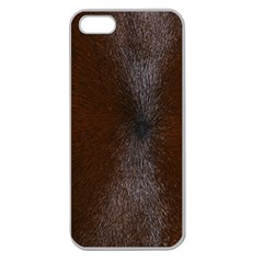 Horse Fur Apple Seamless Iphone 5 Case (clear) by trendistuff