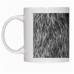 GREY WOLF FUR White Mugs Left