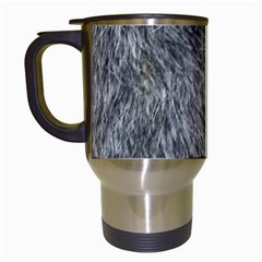 Grey Wolf Fur Travel Mugs (white) by trendistuff