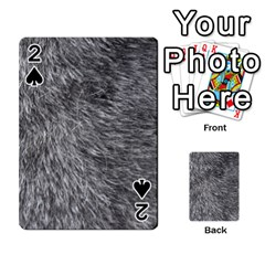 Grey Wolf Fur Playing Cards 54 Designs
