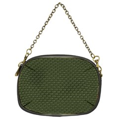 Green Reptile Skin Chain Purses (one Side)  by trendistuff