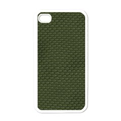Green Reptile Skin Apple Iphone 4 Case (white)
