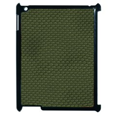Green Reptile Skin Apple Ipad 2 Case (black) by trendistuff