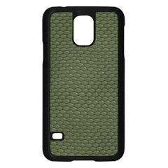 Green Reptile Skin Samsung Galaxy S5 Case (black) by trendistuff