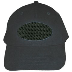Dark Green Scales Black Cap