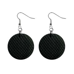 Dark Green Scales Mini Button Earrings