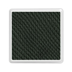 Dark Green Scales Memory Card Reader (square)  by trendistuff