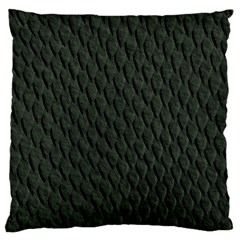 Dark Green Scales Large Cushion Cases (one Side)  by trendistuff