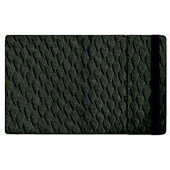 Dark Green Scales Apple Ipad 3/4 Flip Case by trendistuff