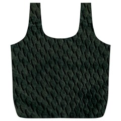 Dark Green Scales Full Print Recycle Bags (l)  by trendistuff