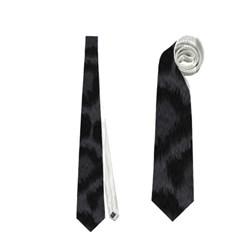 Black Leopard Print Neckties (one Side)