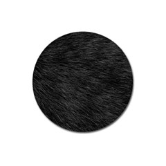 Black Cat Fur Magnet 3  (round) by trendistuff
