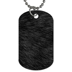 Black Cat Fur Dog Tag (one Side) by trendistuff