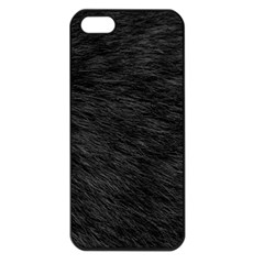 Black Cat Fur Apple Iphone 5 Seamless Case (black) by trendistuff