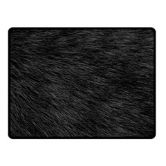 Black Cat Fur Double Sided Fleece Blanket (small)