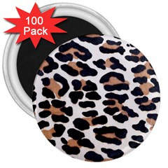 Black And Brown Leopard 3  Magnets (100 Pack) by trendistuff