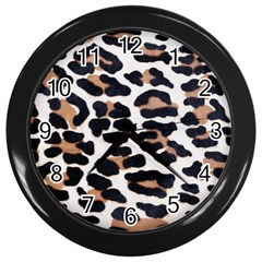 Black And Brown Leopard Wall Clocks (black) by trendistuff