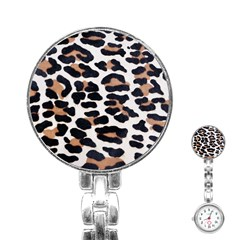 Black And Brown Leopard Stainless Steel Nurses Watches by trendistuff