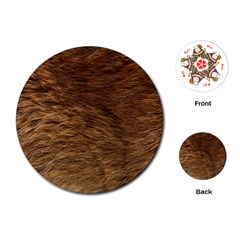 Bear Fur Playing Cards (round)  by trendistuff
