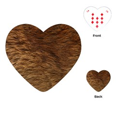 Bear Fur Playing Cards (heart)  by trendistuff